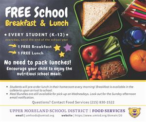 FREE School Breakfast and Lunch