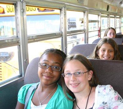 Girls on bus