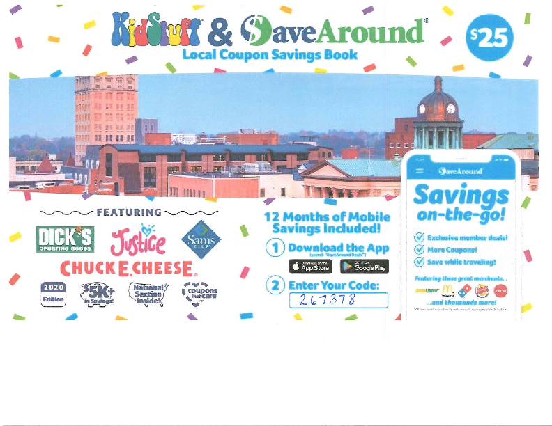 Kid Stuff & Save Around Local Coupon Savings Book Fundraiser - Oct. 14 thru 28